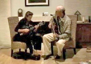 Playing the mandolin together